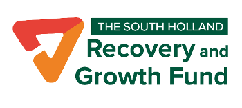 south-holland-recovery-and-growth-fund in green text with orange and red icon