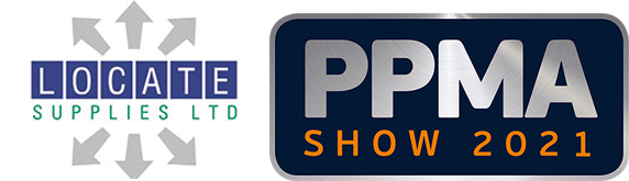 Logos of Locate Supplies Ltd and the PPMA Show 2021